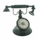 Vintage Metal Old Fashioned Telephone Clock W2756 Retro